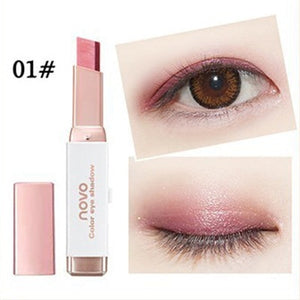 Double Color Eyeshadow Stick Stereo Gradien Shimmer Color Eye Shadow Cream Pen Eye Makeup Palette Cosmetics - Vipbeautycompany