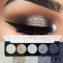 Load image into Gallery viewer, IMAGIC 5 Colors Makeup Pressed Glitter Eyeshadow Cosmetics Eye Shadow Pallete Brand Diamond Glitter Foiled  Make up - Vipbeautycompany
