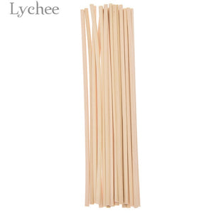 Lychee 20pcs 4mmx20cm Extra thick Rattan Reed Oil Diffuser Replacement Stick Incense Home Living Room Aromatic Incense - Vipbeautycompany