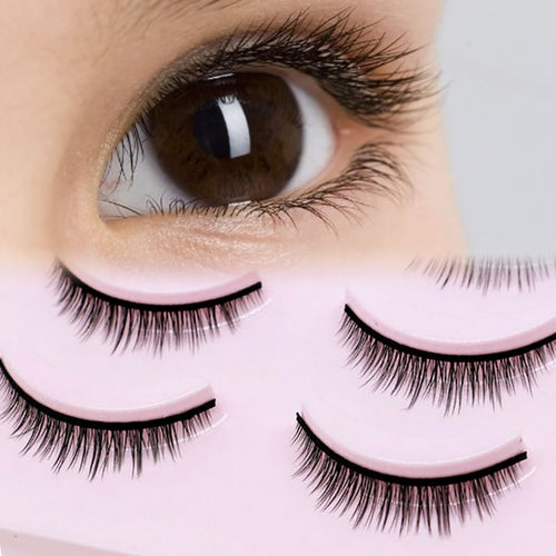 5 Pairs New 3D Mink Popular Natural Short Cross False Eyelashes Daily eye lashes Girls Makeup Necessaries eyelashes maquiagem - Vipbeautycompany