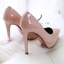 Load image into Gallery viewer, Super high with 12 cm womens shoes European American style shallow mouth sexy high heels stiletto single shoes red wedding shoes - Vipbeautycompany