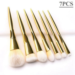 6/7/8/10/12pcs Luxury Pink Makeup Brushes Professional Soft Hair Foundation Blush Concealer Make Up Brushes Cosmetic Tools - Vipbeautycompany