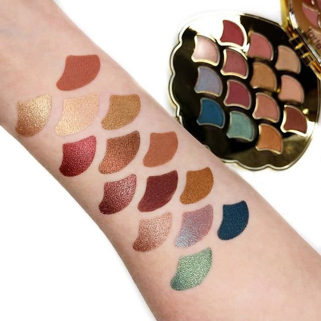New 14 Colors Mermaid Shell Eyeshadow Pallete Shimmer Matte Pigmented Diamond Glitter Eyeshadow Palette Makeup Palette - Vipbeautycompany