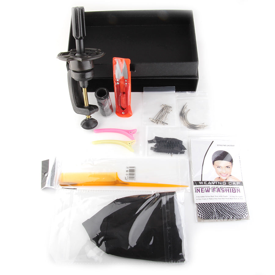 vipbeautycompany.com  Wig Accessories Set Kit For Making Wigs DIY Human Hair Wig Accessories Sets Wig Making Starter Kit Hair Net/T Pains - Vipbeautycompany