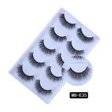 Load image into Gallery viewer, New 3D 5 Pairs Mink Eyelashes extension make up natural Long false eyelashes fake eye Lashes mink Makeup wholesale Lashes - Vipbeautycompany