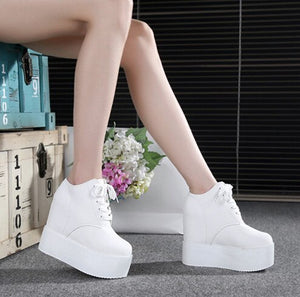 Vulcanize Shoes Women 2020 European Style Thick Bottom Waterproof Platform Sneakers Womens Simple Trendy Walking Shoe Outdoor - Vipbeautycompany