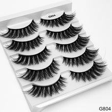 Load image into Gallery viewer, SEXYSHEEP 5 Pairs 3D Mink Hair False Eyelashes Thick Curled Full Strip Lashes Eyelash Extension Fashion Women Eyes Makeup - Vipbeautycompany