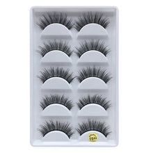 Load image into Gallery viewer, MB 5 pairs Mink Eyelashes 3D False lashes Thick Crisscross Makeup Eyelash Extension Natural Volume Soft Fake Eye Lashes - Vipbeautycompany