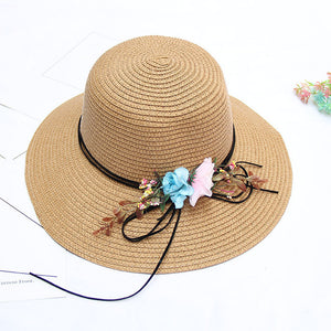 Women's Active Holiday Straw Straw Hat-Color Block All Seasons Beige Navy Blue Khaki - Vipbeautycompany