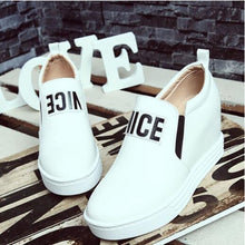 Load image into Gallery viewer, Women's Sneakers Party Heels Wedge Heel Closed Toe Buckle Pigskin Comfort Spring & Summer White / Black / Red - Vipbeautycompany