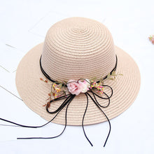 Load image into Gallery viewer, Women's Active Holiday Straw Straw Hat-Color Block All Seasons Beige Navy Blue Khaki - Vipbeautycompany
