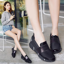 Load image into Gallery viewer, women Femine lace-free casual thicken soft sole Plimsolls moccasin Zapatillas flat lazy leisure shoes Flattie#85 - Vipbeautycompany