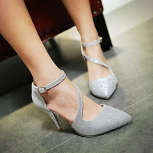 Load image into Gallery viewer, Women's Stiletto Heel Leatherette Spring / Summer Silver / Golden / Wedding - Vipbeautycompany