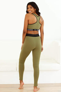REBORN Khaki High Waisted Leggings Set