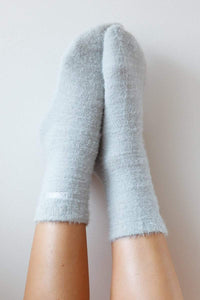 Silver Embroidered Lounge Toastie Socks