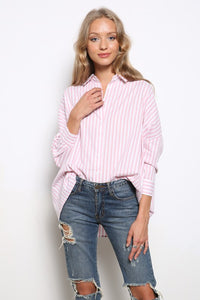 Crissy Striped Button Up