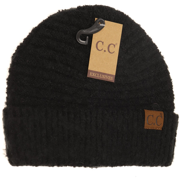Solid Boucle Knit Beanie