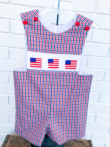 Flag Smocked Shortall