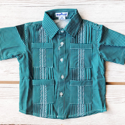 BlueQuail Green Gingham Shirt