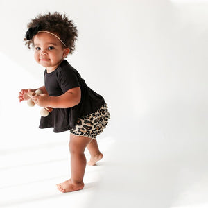 Posh Peanut Lana Leopard Peplum and Bloomer Set