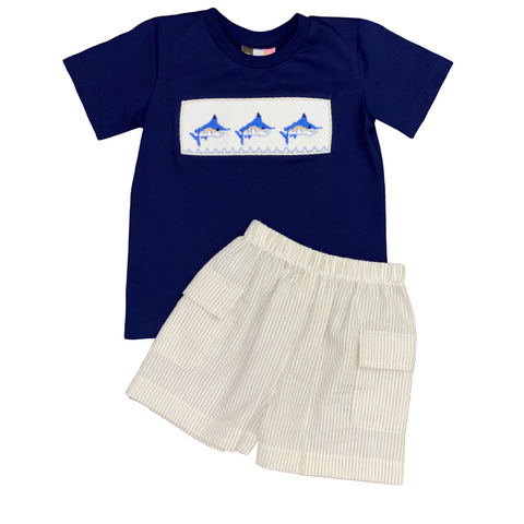 Smocked Marlin Set