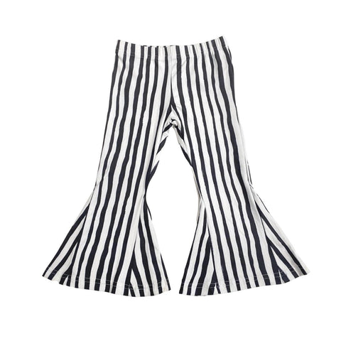 Blk & White Stripe Bell Bottoms-Child