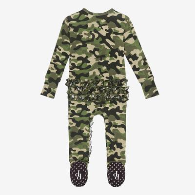 Posh Peanut Cadet Ruffled Zippered Footie