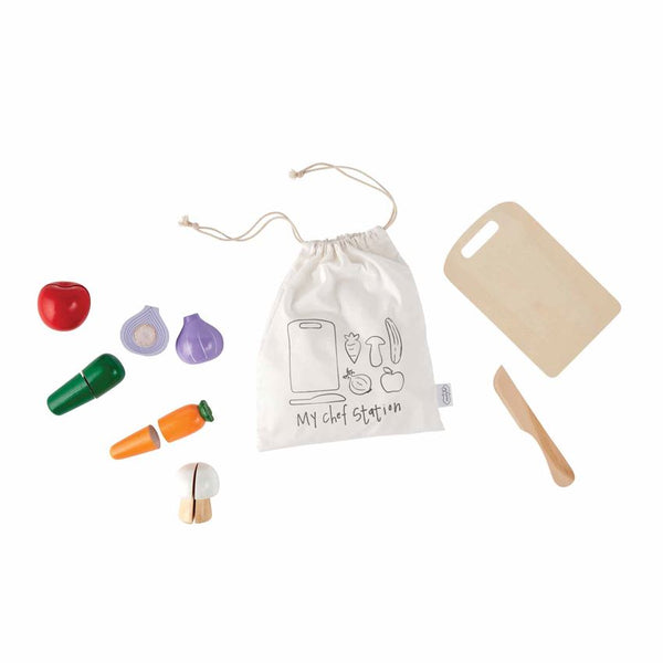 Mud Pie Wood Chef Toy Set