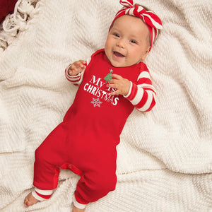 My First Christmas Romper