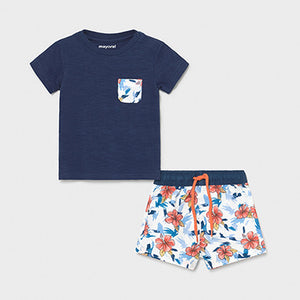 Hawaiian Swim short w/ Tee Set