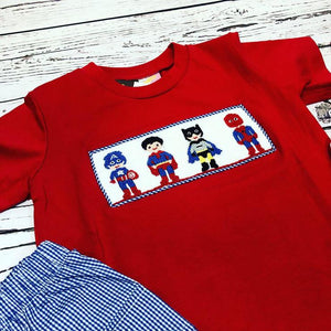 Smocked Superhero Set