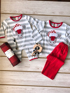 Christmas Cow Romper