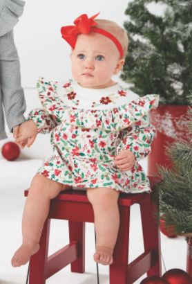 Merry Poinsettia Dress