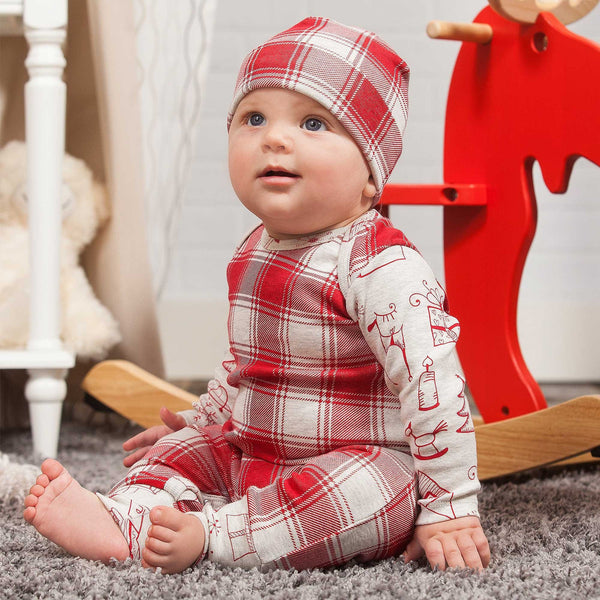 Christmas Plaid Gift Romper