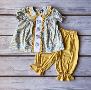 Smocked Turkey Pantaloon Set