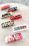 Personalized Hair Clips