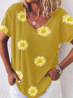 Load image into Gallery viewer, Small Daisy Loose Casual Oversized T-shirt