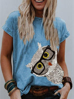 Load image into Gallery viewer, Women's Vintage Owl Print Top