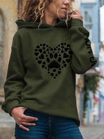 Load image into Gallery viewer, Women's Love Dog Paw Print Hoodie