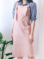 Load image into Gallery viewer, Cotton linen apron loose overalls