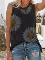 Load image into Gallery viewer, Summer Sleeveless Round Neck Floral Print Vest