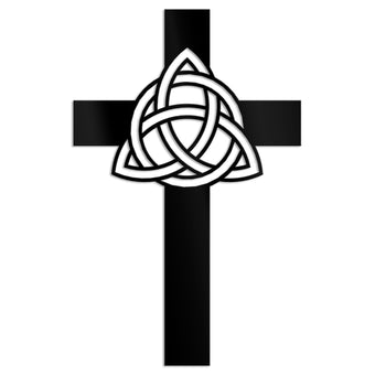 Cross With Trinity Knot