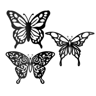 Butterflies Silhouettes 3 Pack
