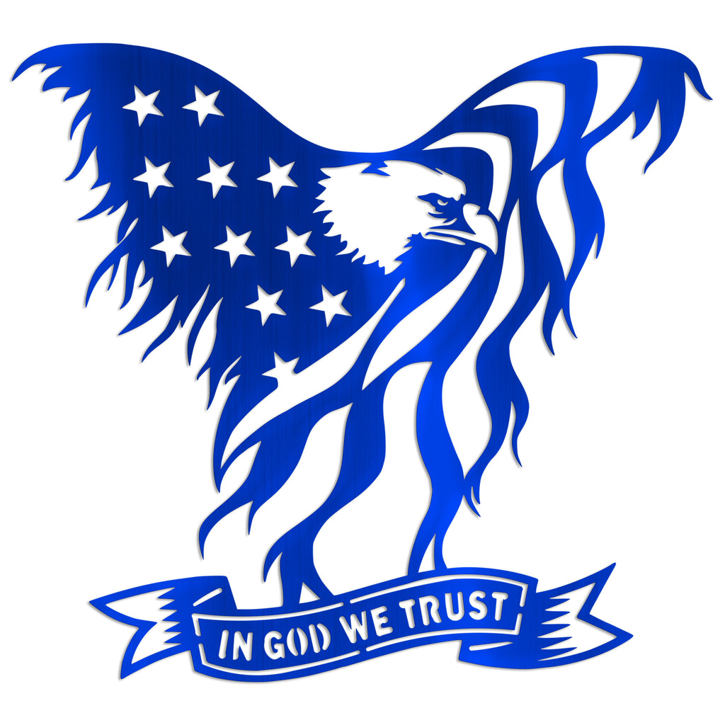 Eagle Flag In God We Trust