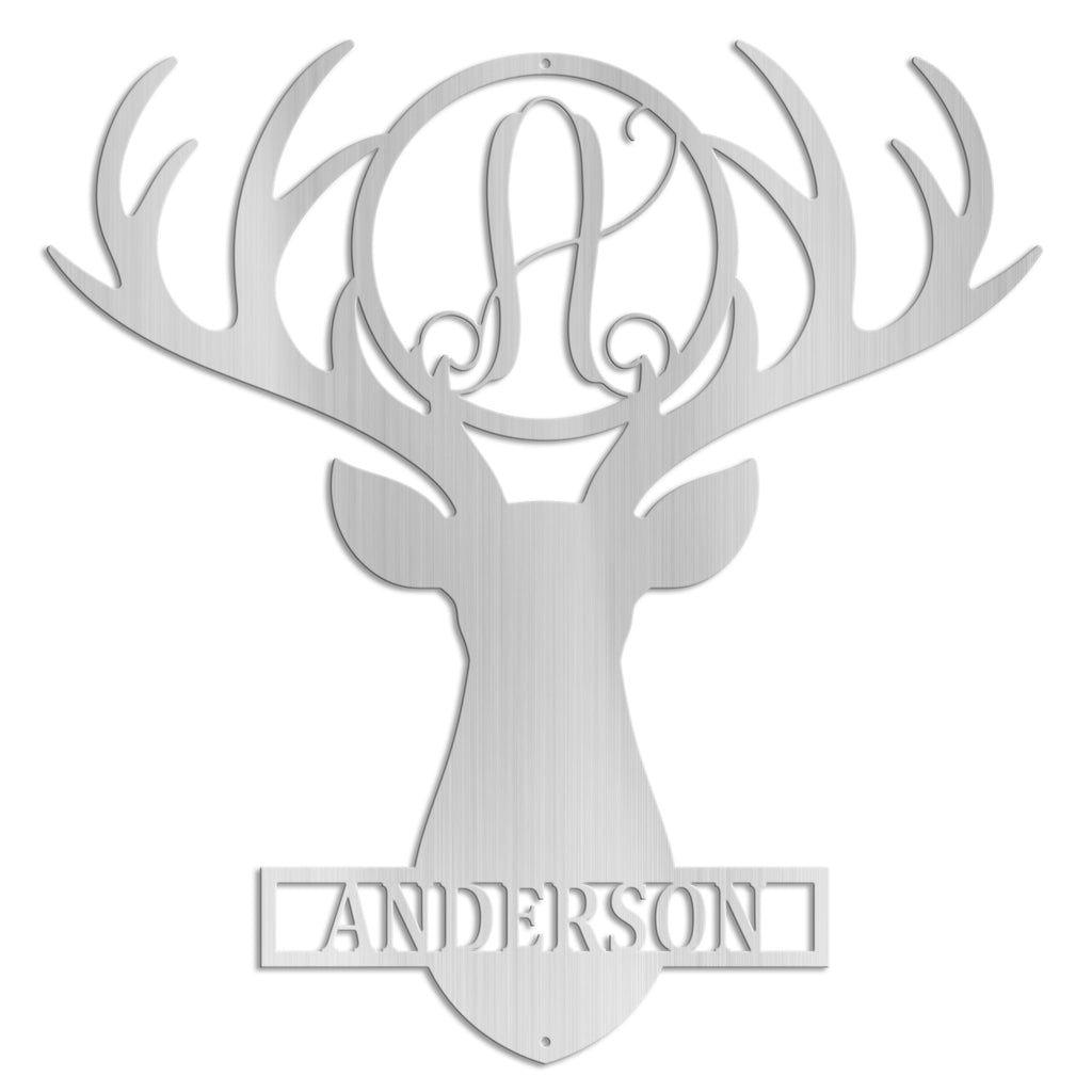 Deer Head Monogram
