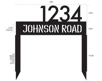 Street Address Sign, Personalized Line Monogram