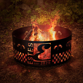 Fire Pit Hot Rod Checkers Cars