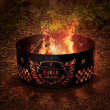 Fire Pit Hot Rod Checkers Graphic