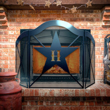 Custom Country Star 3-Panel Steel Fireplace Screen