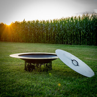 Flaming Saucer Custom Wood Burning Fire Pit
